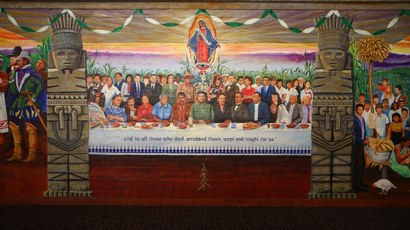 The Last Supper of Chicano Heroes Casa Zapata Mural History Project